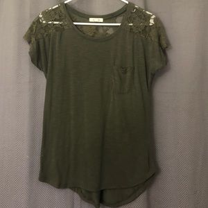 Lace Green Blouse